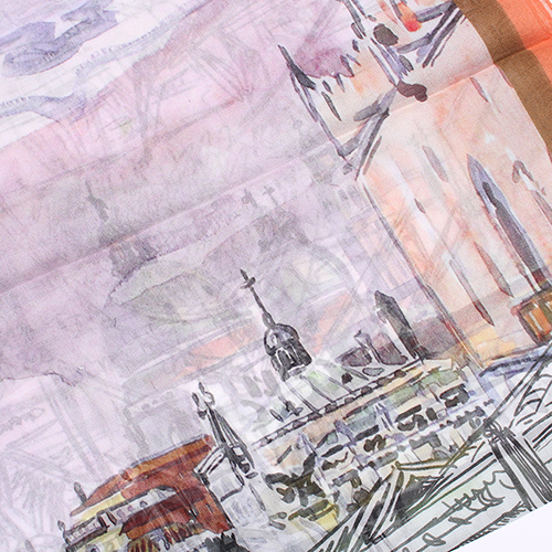 Платок Fattorseta с принтом города, фото