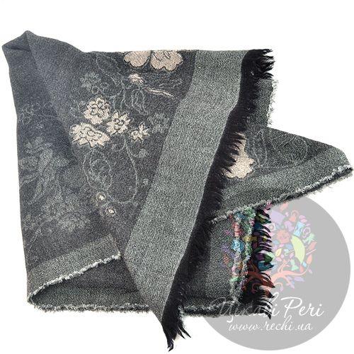 Палантин Armani Collezioni серый с цветами, фото