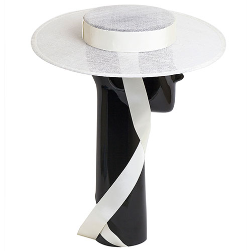 Белая шляпа Shapelie Скарлет с лентами-завязками, фото