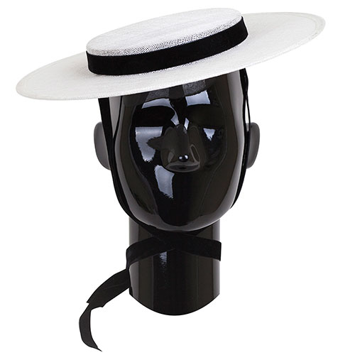 Женская шляпа Shapelie Джейн белого цвета с лентой, фото