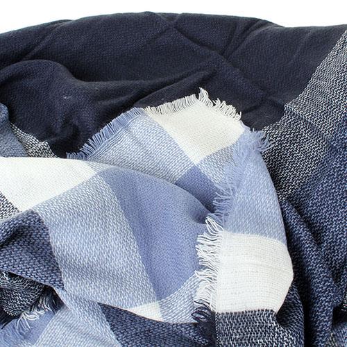 Платок Tosca Blu Sacher голубой в клетку, фото