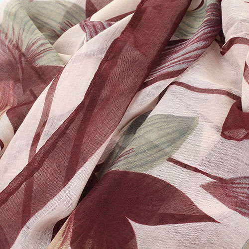 Шарф Tosca Blu Brownies в крупных цветах, фото