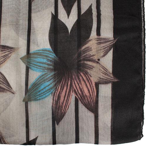 Шарф Tosca Blu Brownies с цветочным принтом, фото