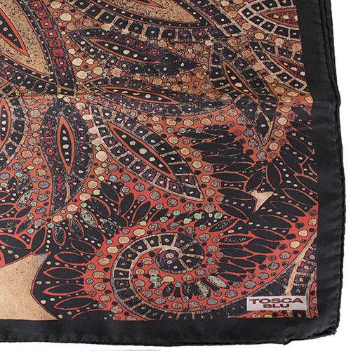 Шелковый платок Tosca Blu Maldive с орнаментом, фото