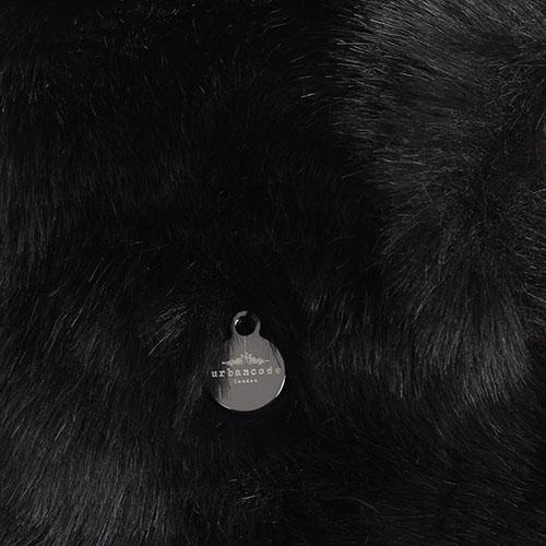 Шапка-ушанка Urbancode London из искусственного меха черного цвета, фото