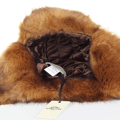 Шапка-ушанка Urbancode London из искусственного меха коричневого цвета, фото