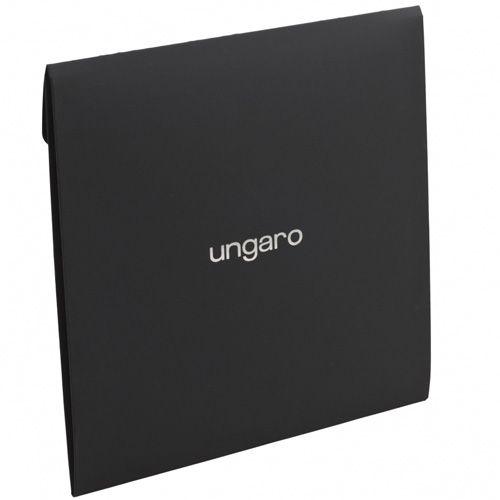 Платок Ungaro «Rosa» шелковый в приятных оранжевых и синих тонах, фото