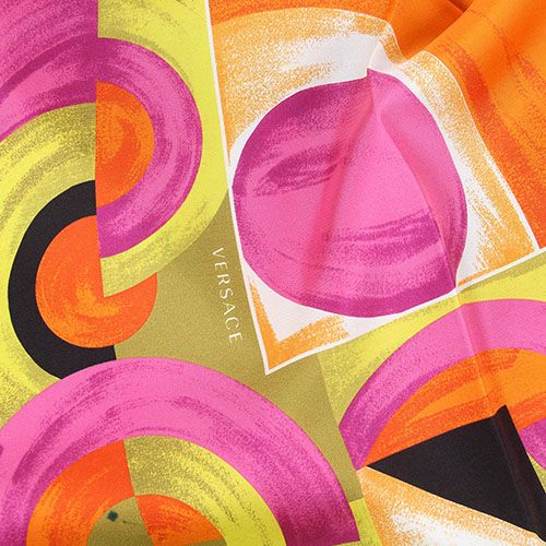 Платок Versace с абстрактным принтом ярких цветов, фото