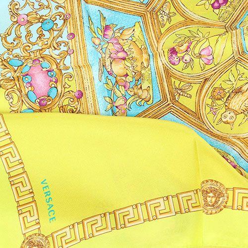 Шелковый платок Versace фисташкового цвета, фото