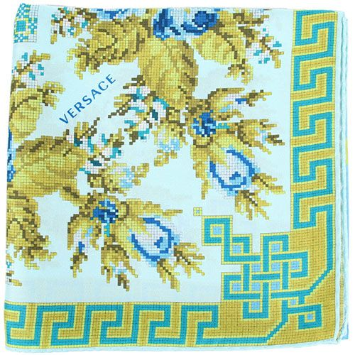 Шелковый платок Versace со схематическим орнаментом, фото