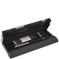 Письменный набор Graf von Faber-Castell из пенала и кедровых карандашей с платиновым напылением, фото