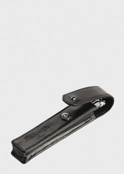 Чехол для ручки Montegrappa из черной кожи, фото