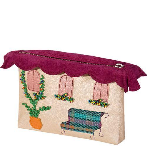 Косметичка Unique U Весенний домик розово-перламутровая, фото