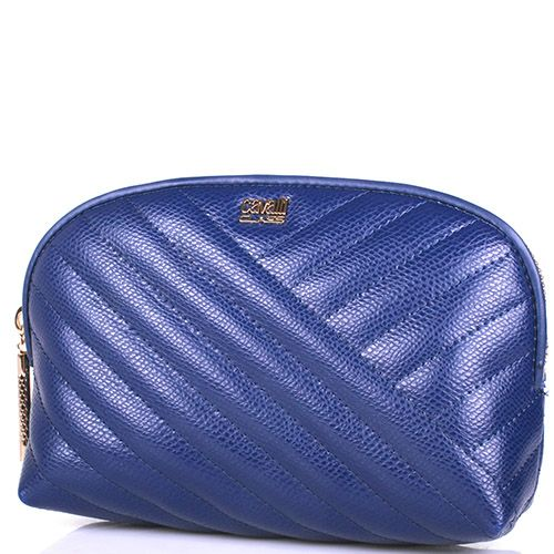 Косметичка Cavalli Class Idol синего цвета стеганая, фото