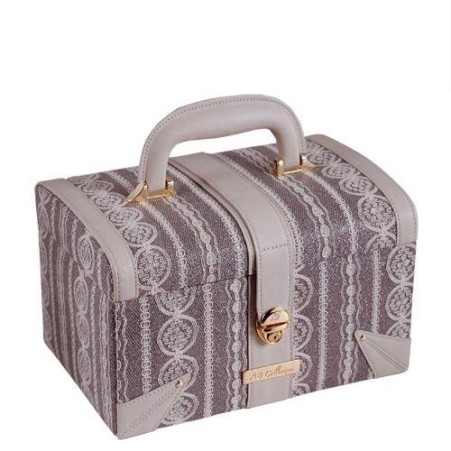 Кейс для косметики AB Collezioni Fashion сиреневатый с мини-шкатулкой, фото