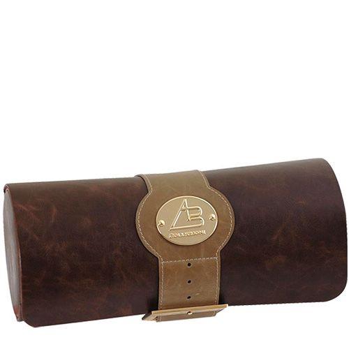 Шкатулка AB Collezioni Tortuga в форме цилиндра для хранения 5 часов, фото
