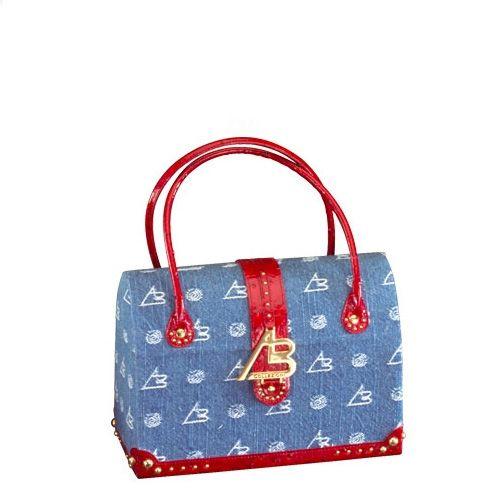 Кейс для косметики AB Collezioni Royal 565j синий в виде сумочки с ручками, фото