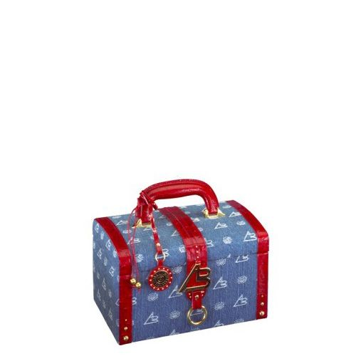 Кейс для косметики AB Collezioni Royal 568j синий со шкатулкой на молнии, фото