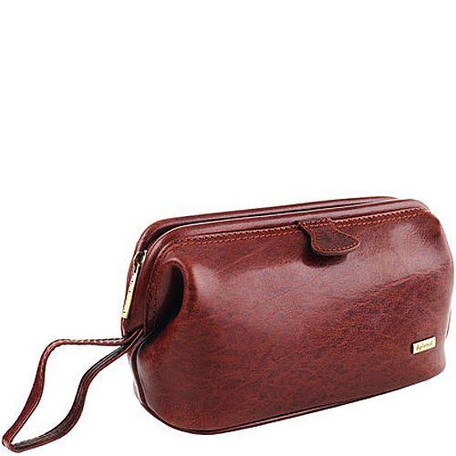 Несессер Diplomat дорожный кожаный коричневый, фото