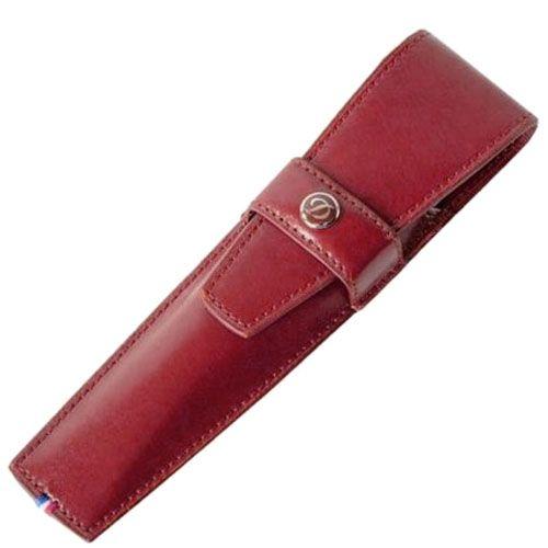Футляр для ручки S.T.Dupont Elysee из красной кожи, фото