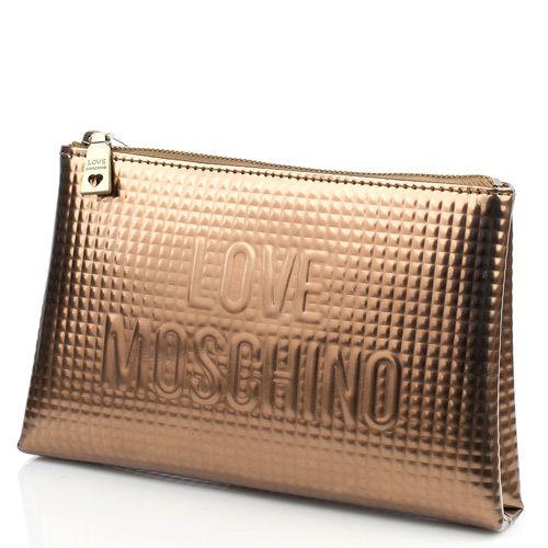 Косметичка бронзовая Love Moschino по-больше, фото