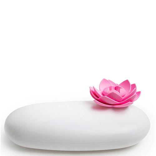 Футляр белого цвета с розовым цветком Qualy Lotus, фото