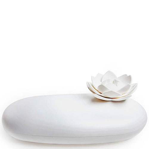 Футляр с цветком Qualy Lotus белого цвета, фото