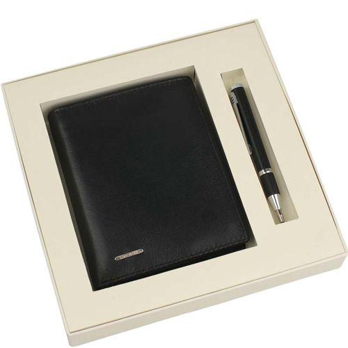 Набор Samsonite черный из карманной шариковой ручки и портмоне, фото