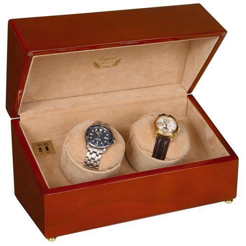 Шкатулка с подзаводом для хранения часов Rapport Duo W131, фото