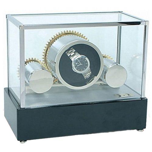Шкатулка с подзаводом для хранения часов Rapport Cog Weel W199, фото