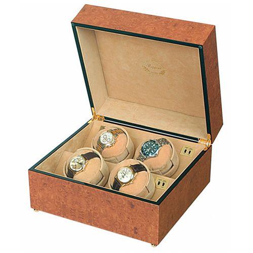 Шкатулка с подзаводом для хранения часов Rapport Walnut Burr W204, фото