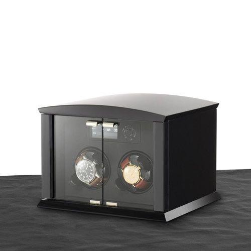 Шкатулка ElmaMotion Corona Version Piano черная для хранения и завода 2 часов