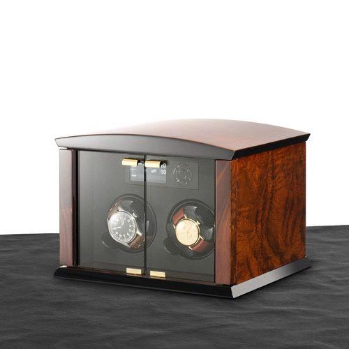 Шкатулка ElmaMotion Corona Burlwood для хранения и завода 2 часов