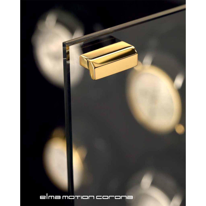 Шкатулка ElmaMotion Corona Burlwood со стеклянными дверцами для хранения и завода 4 часов