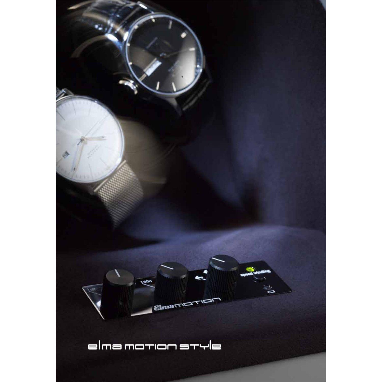 Шкатулка ElmaMotion Style для хранения и завода 2 часов черная с матовым шелковистым покрытием