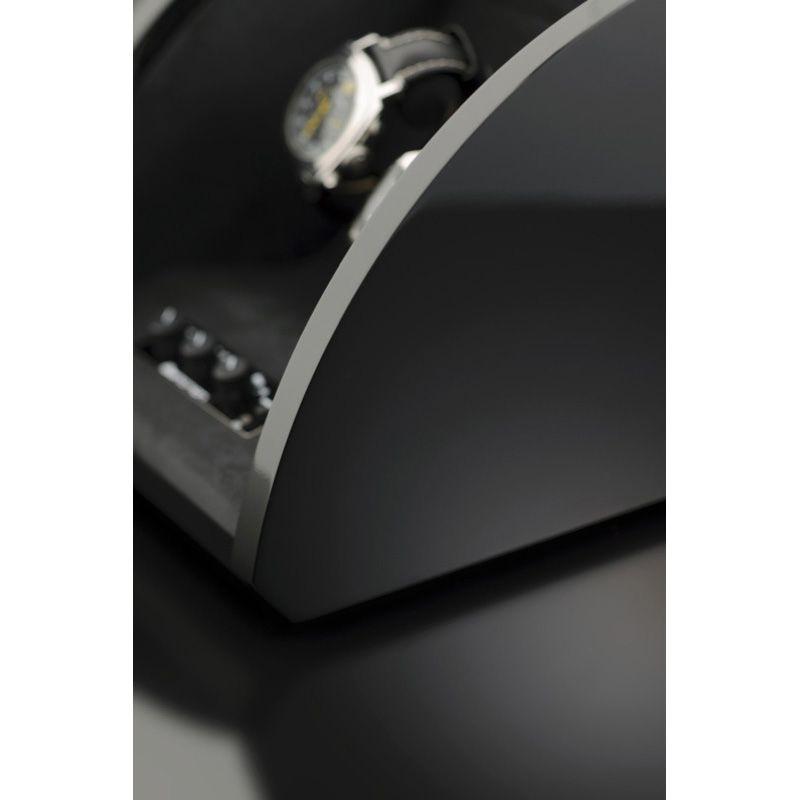 Шкатулка ElmaMotion Style для хранения и завода 2 часов черная с благородным блеском