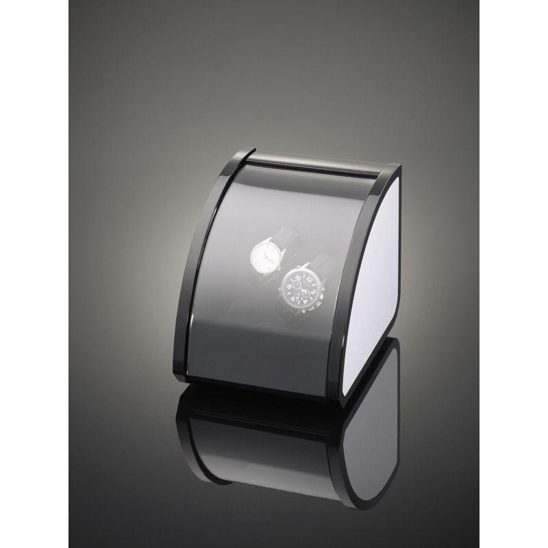 Шкатулка ElmaMotion Style с благородным блеском и алюминиевой отделкой для хранения и завода 2 часов