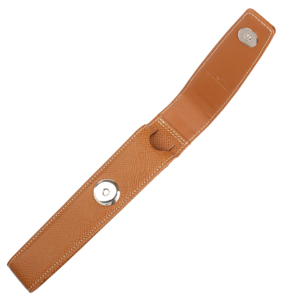 Коричневый кожаный футляр Graf von Faber-Castell для ручки на кнопке