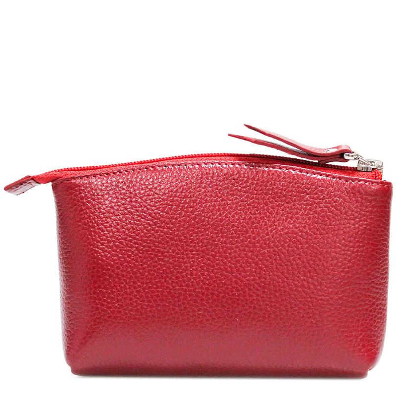 Красная косметичка Amo Accessori Comfort на молнии