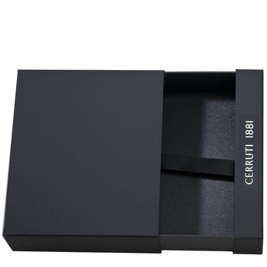 Набор Cerruti 1881 черный из блокнота Drawer А5 и брелока с флеш-картой USB2 на 4 Гб