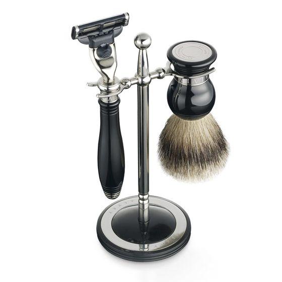 Набор для бритья Dalvey - бритва и помазок Best с подставкой