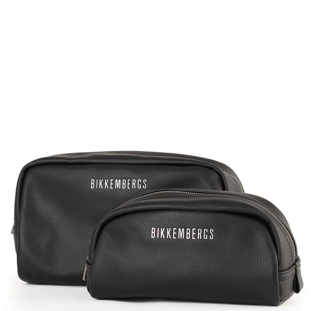 Набор косметичек Bikkembergs из черной кожи