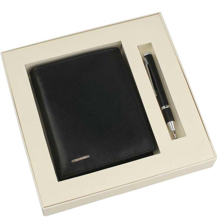 Набор Samsonite черный из карманной шариковой ручки и портмоне