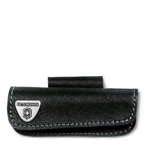 Ножны Victorinox горизонтальный из черной кожи с креплением на пояс
