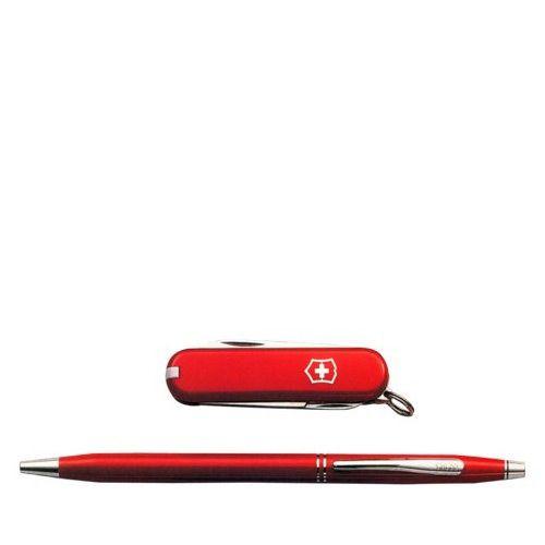 Набор Victorinox Classic из красной шариковой ручки и складного ножа