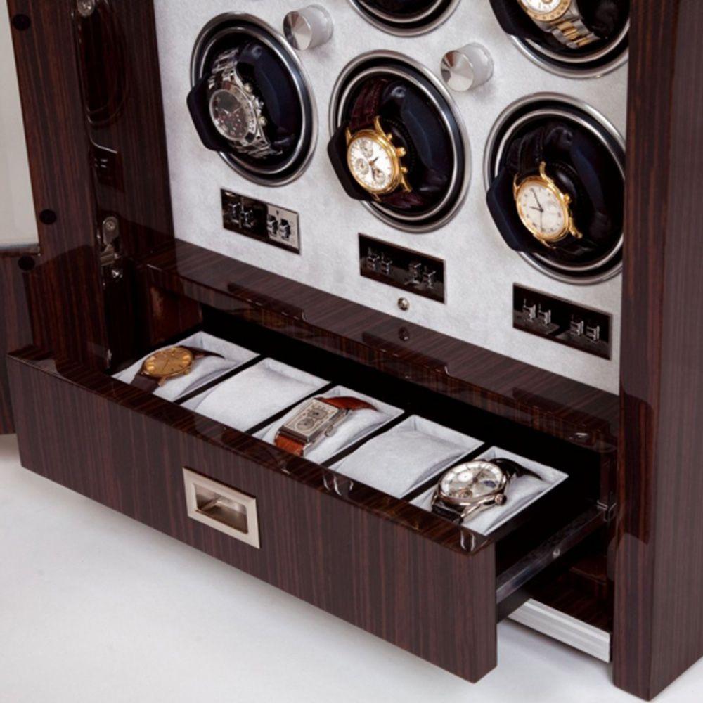 Шкатулка с выдвижным ящиком для хранения часов Rapport на 9 единиц w409