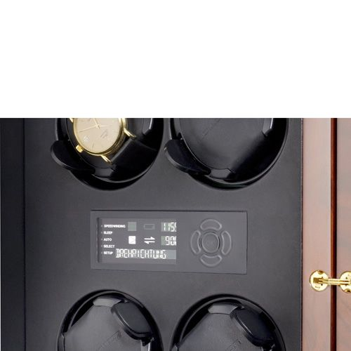 Шкатулка ElmaMotion Corona Burlwood для хранения и завода 8 часов, фото