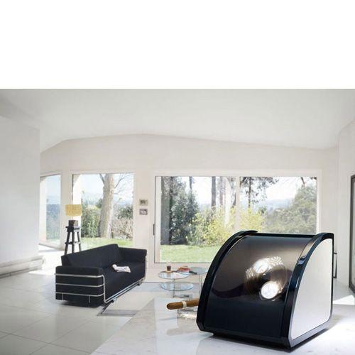 Шкатулка ElmaMotion Style с благородным блеском и алюминиевой отделкой для хранения и завода 2 часов, фото