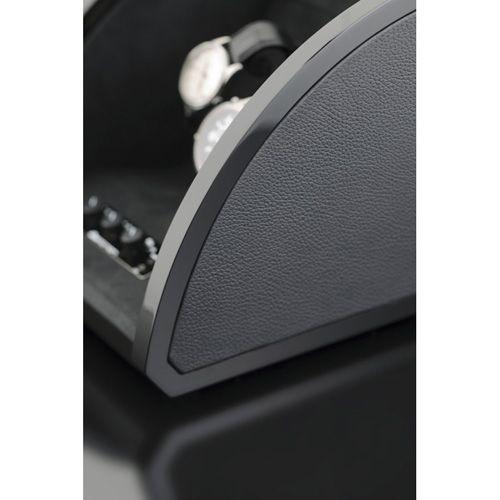 Шкатулка ElmaMotion Style для хранения и завода 4 часов с благородным блеском и кожаной отделкой, фото