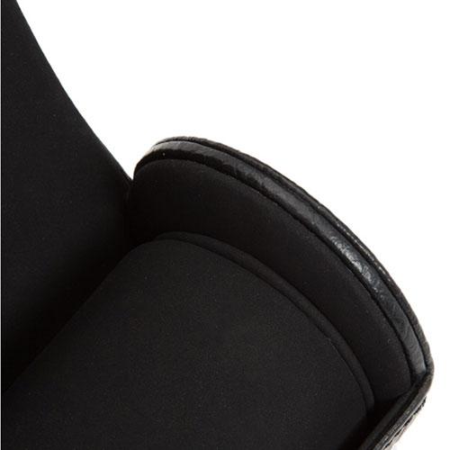 Черный футляр для галстука Wolf 1834 из тисненной под рептилию кожи, фото